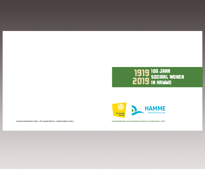 Brochure 100 jaar Sociaal Wonen in Hamme - spread 1
