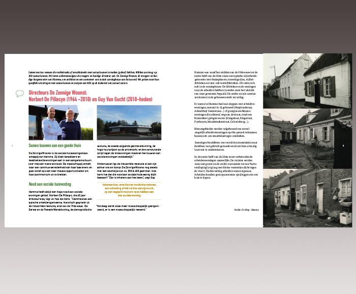 Brochure 100 jaar Sociaal Wonen in Hamme - spread 3