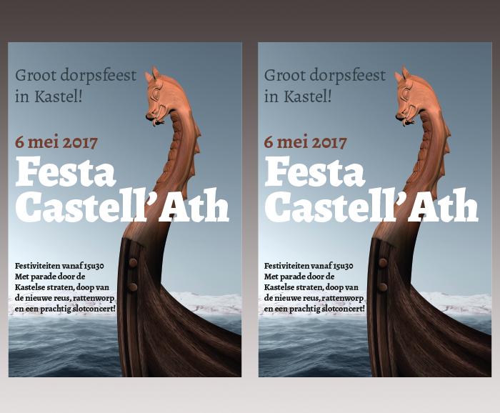 Promotiemateriaal Festa Castell'Ath - flyer
