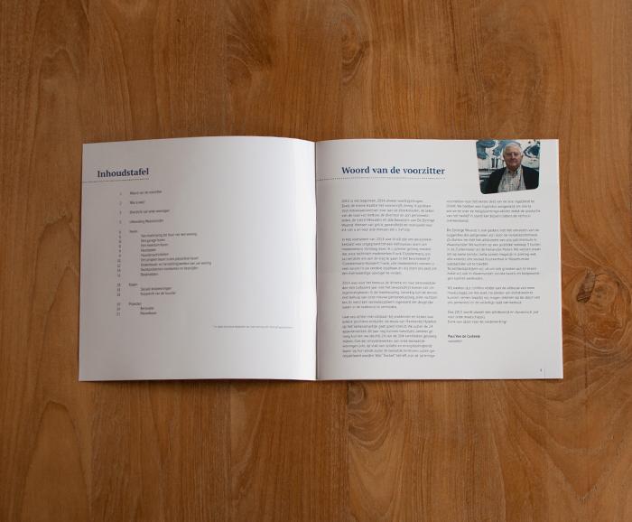 Infobrochure De Zonnige Woonst - inhoudsopgave en voorwoord