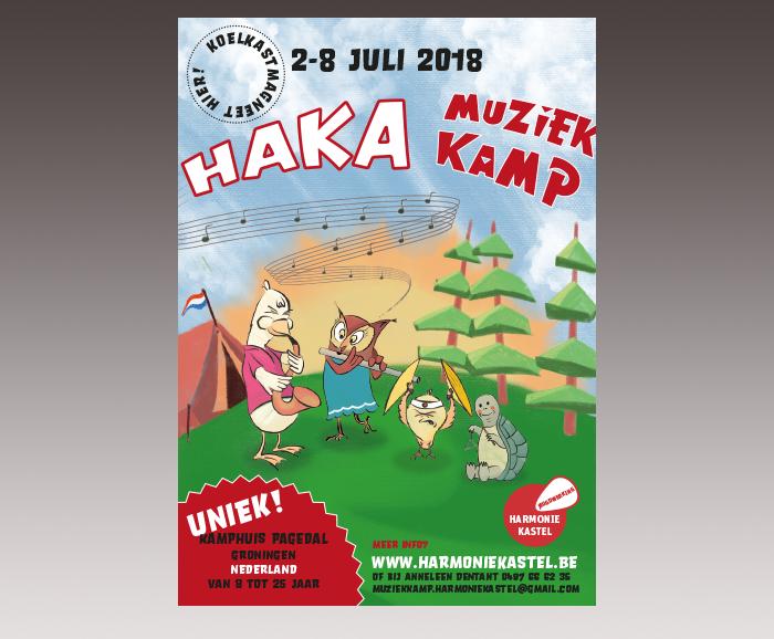 Promotie HaKa Muziekkamp 2018 - uitnodiging - verso