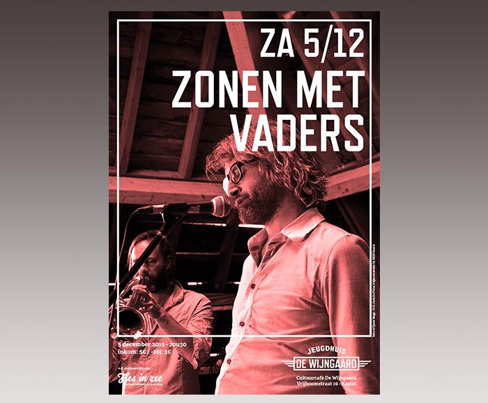 Affiche jeugdhuis De Wijngaard - Zonen met vaders