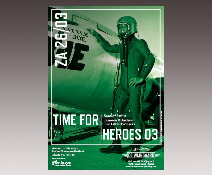 affiche jeugdhuis De Wijngaard - Time for Heroes 03