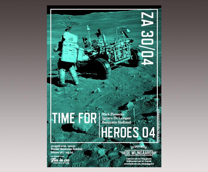 affiche jeugdhuis De Wijngaard - Time for Heroes 04
