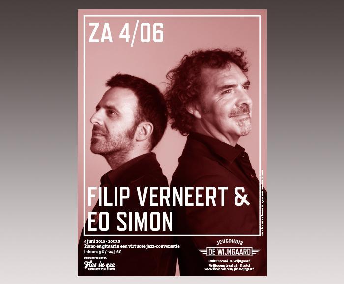 affiche jeugdhuis De Wijngaard - Filip Verneert & EO Simon