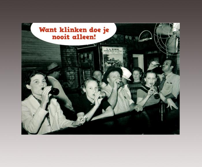 De Wijngaard - klinkkaart - recto