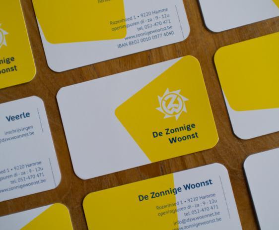 Businesscards De Zonnige Woonst - detail recto