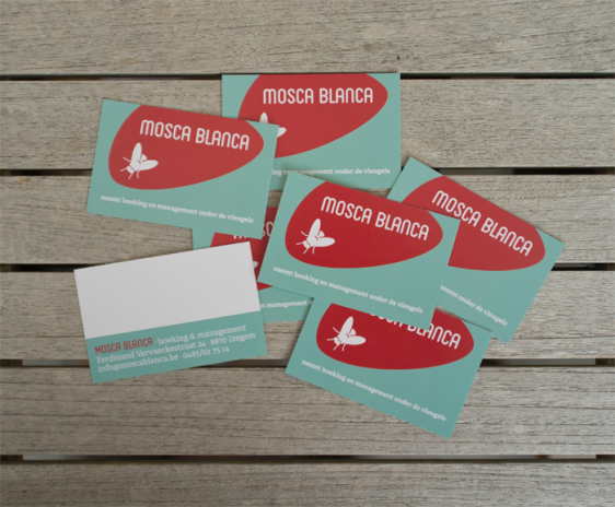 visitekaartjes Mosca Blanca