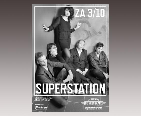 Affiche jeugdhuis De Wijngaard - Superstation