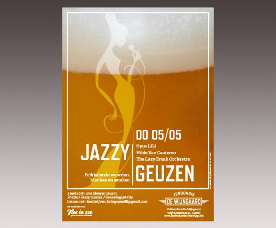 affiche jeugdhuis De Wijngaard - Jazzy Geuzen